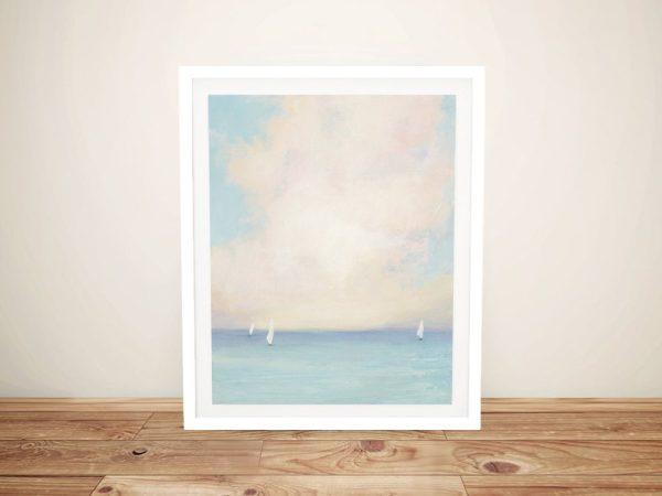 Morning Sail Framed Seascape Cheap Online