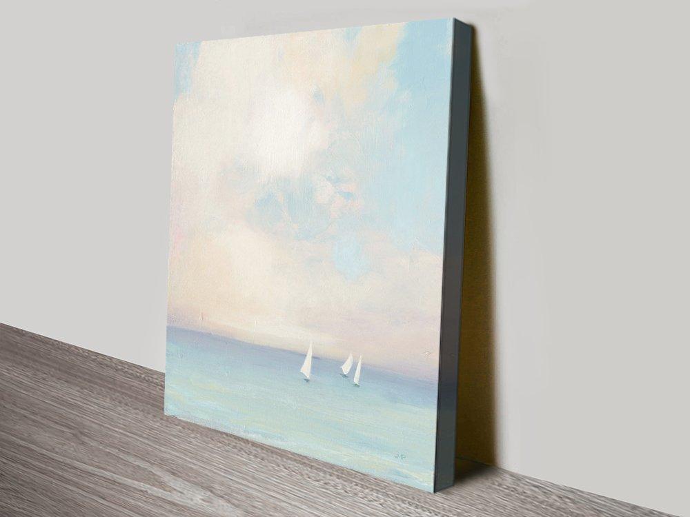 Morning Sail Seascape Watercolour Print AU
