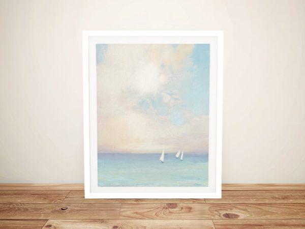 Morning Sail ll Framed Seascape Wall Art