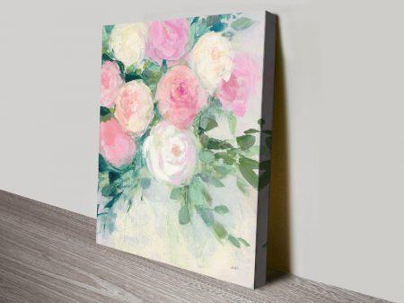 June Abundance ll Floral Print on Canvas