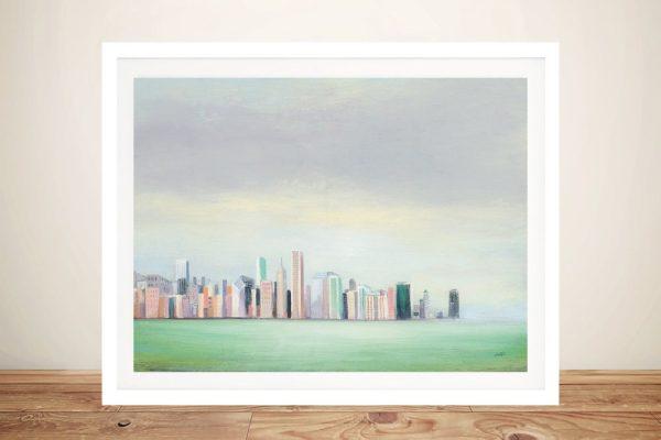 New York Skyline Framed Julia Purinton Artwork
