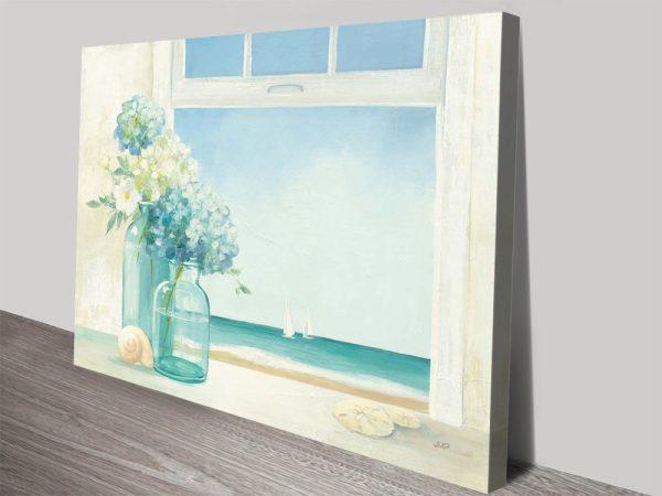 Buy Seaside Hydrangeas Artwork on Canvas