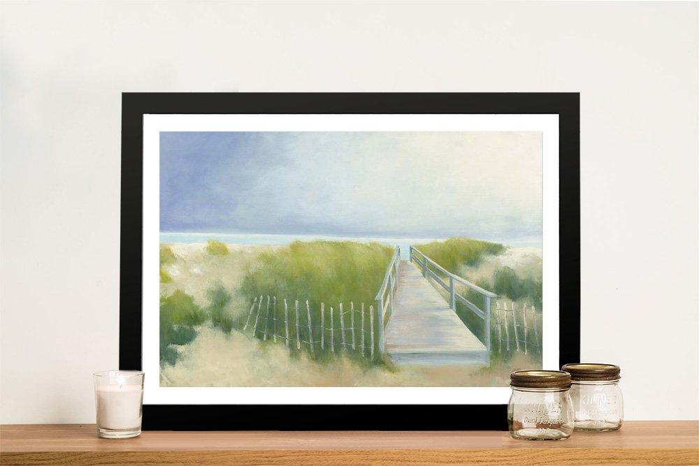 Beach Walk Framed Coastal Artwork for Sale