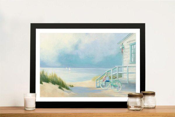 Morning Ride to the Beach Coastal Artwork