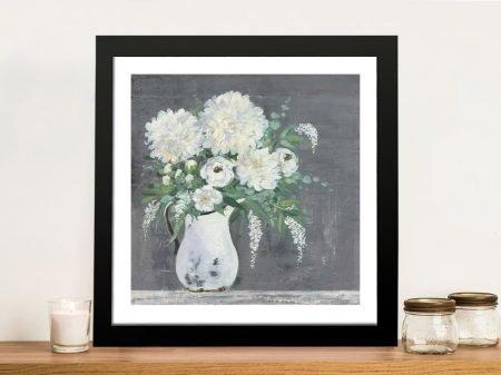 Late Summer Bouquet l Floral Art on Canvas