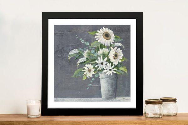 Framed Floral Print Unique Home Decor Ideas