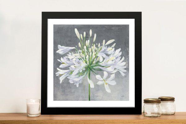 Cleome Splash Framed Floral Wall Art