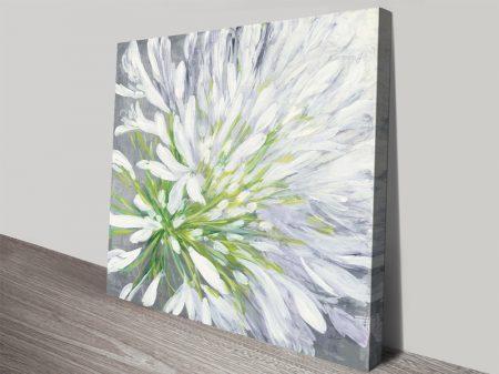 Cleome Splash ll Floral Art Print on Canvas