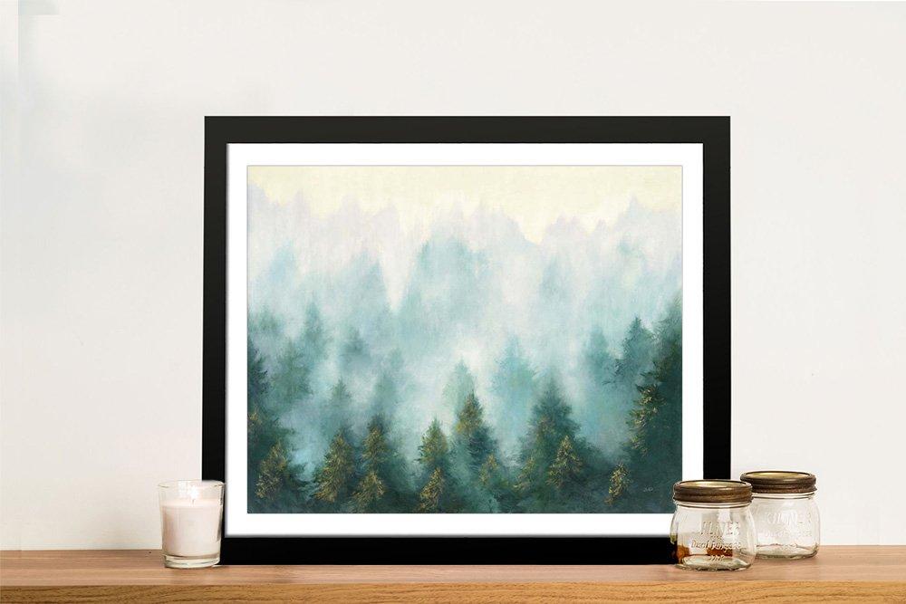 Misty Forest Framed Landscape Canvas Art