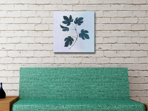 Botanical Study lll Blue Affordable Floral Art