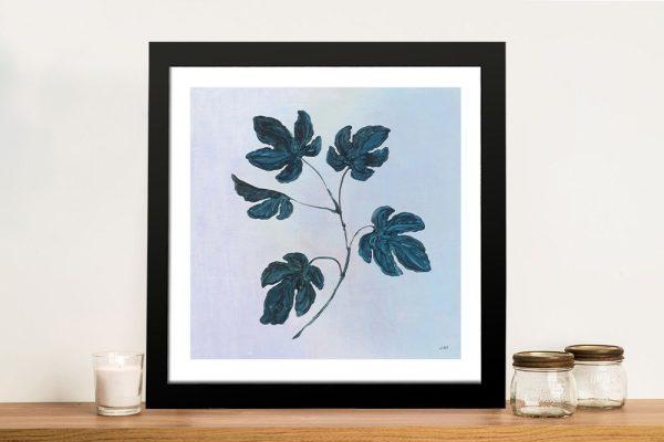Botanical Study lll in Blue Framed Canvas Art