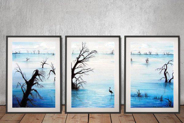 Silent Reflections Framed 3-Piece Wall Art