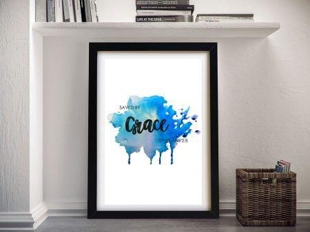 Saved by Grace Framed Christian Art