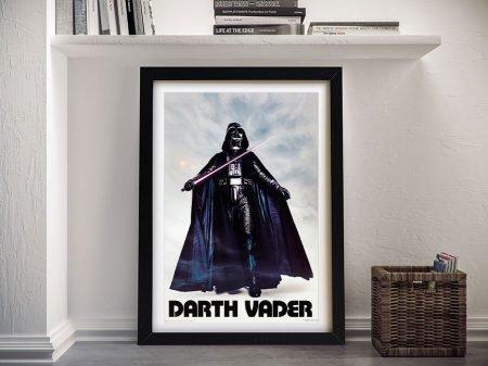 Retro Darth Vader Print on Canvas