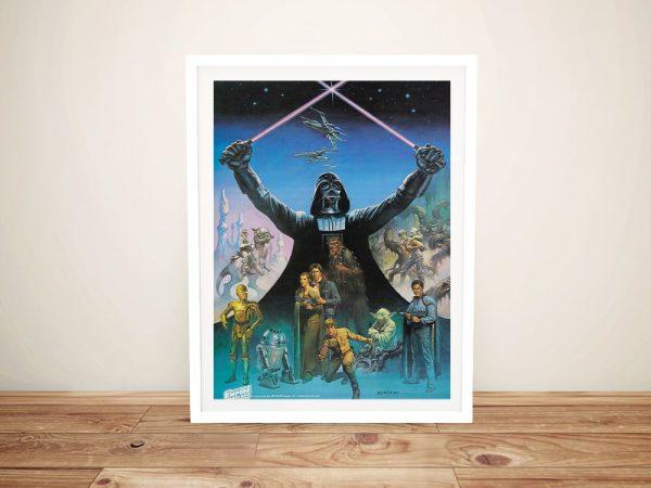 Framed Vintage Star Wars Wall Art for Sale