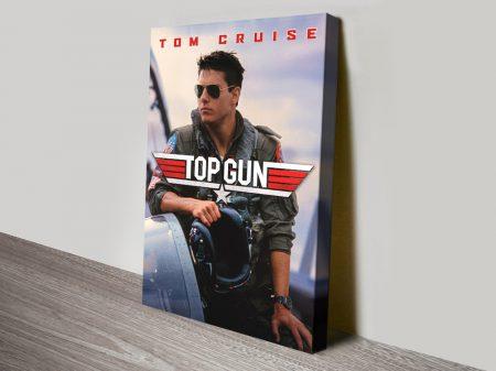 Top Gun High Resolution Film Poster on Canvas