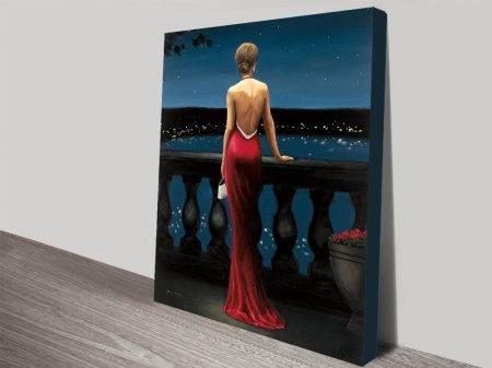 Buy Thinking of Him Romantic Art on Canvas