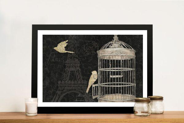 Via Paris l James Wiens Canvas Art Print