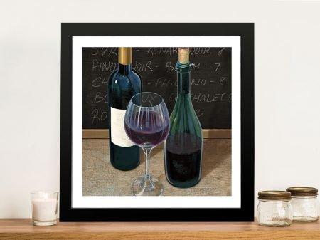 Wine Spirit lll Framed Print on Canvas