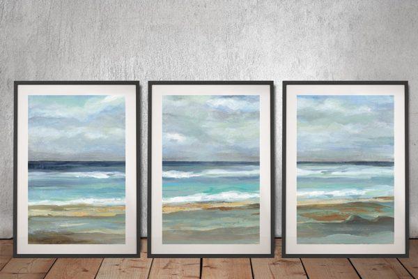 Buy Seashore Triptych Silvia Vassileva Art