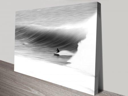 Atmospheric Surfscape Black & White Artwork