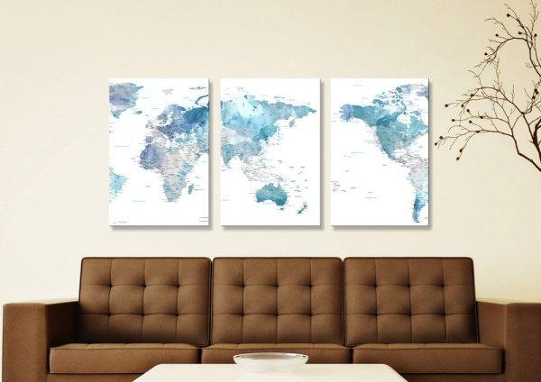 Watercolour World Maps Unique Gift Ideas Online