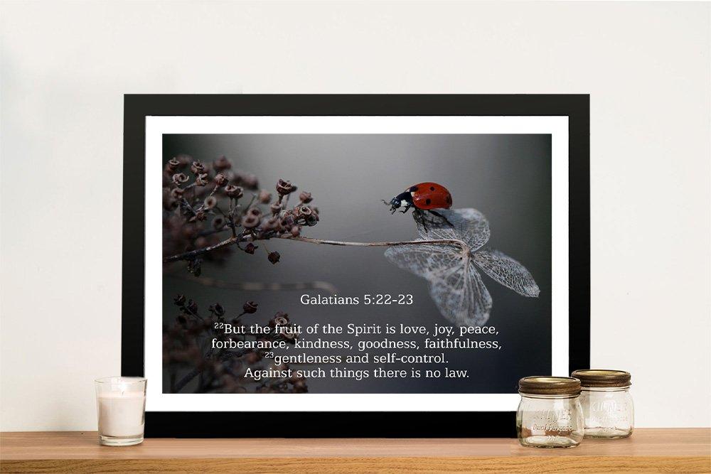 Framed Galatians Bible Quote Art Cheap Online