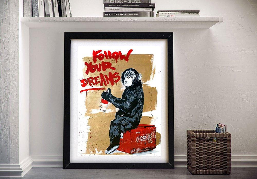 Banksy Follow Your Dreams Graffiti Art