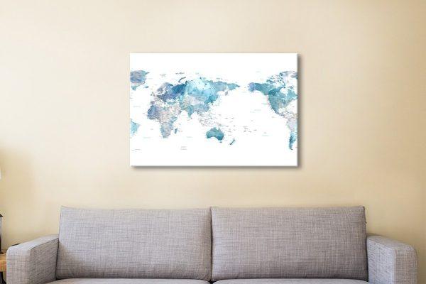 Affordable Custom World Maps Gift Ideas AU