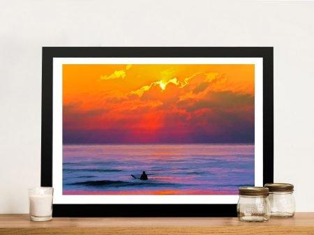Dusk Vigilance Framed Surf Art Print