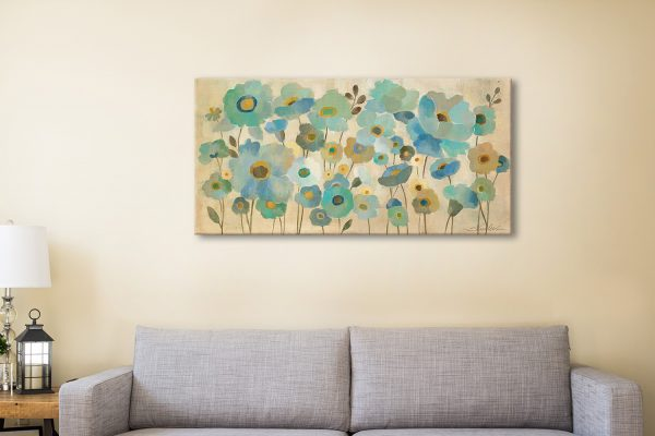Floral Lace Ready to Hang Panoramic Art AU