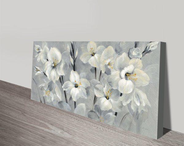 Flowers on Grey Wall Art Home Decor Ideas AU