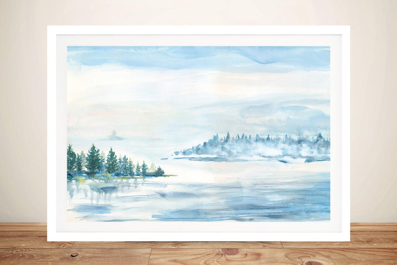 Lake Fog Framed Print Affordable Gift Ideas AU