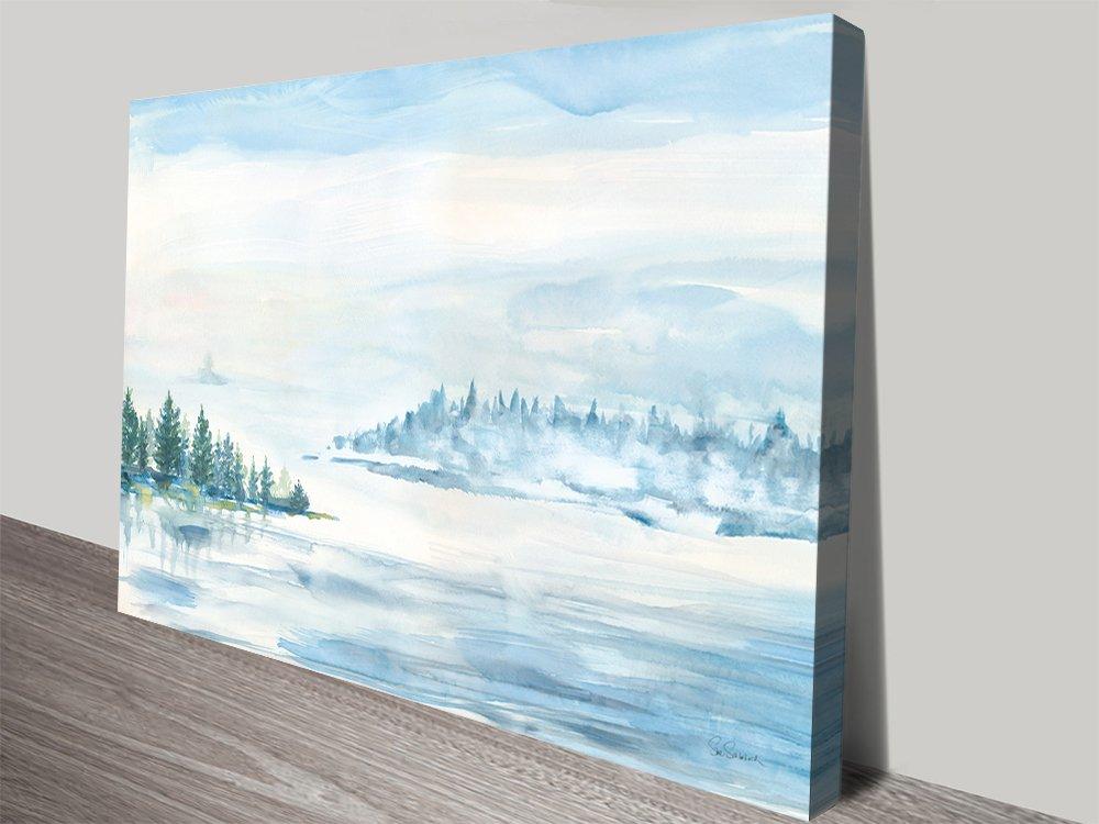 Lake Fog Quality Canvas Wall Art