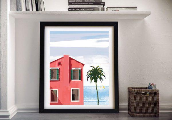 Las Palmas ll Framed Architectural Artwork