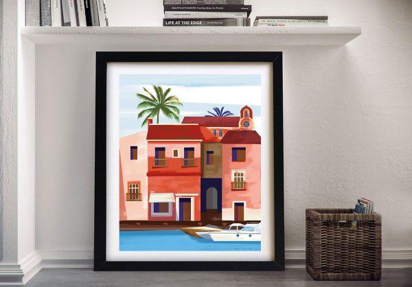 Las Palmas lV Colourful Framed Wall Art