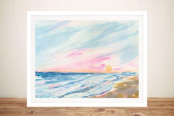 Ocean Sunrise Framed Abstract Seascape