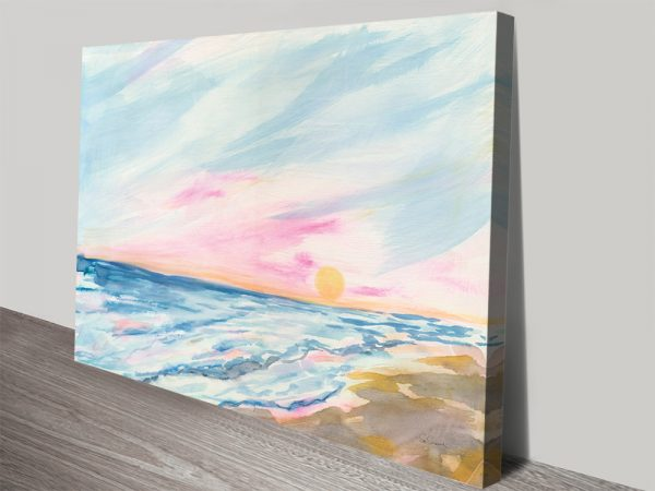 Ocean Sunrise Stretched Canvas Wall Art Online
