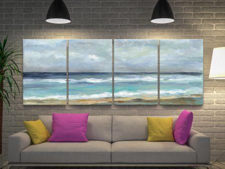Seashore 4-Piece Silvia Vassileva Wall Art