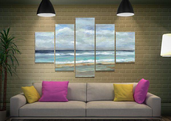 Ready to Hang Seashore 5-Piece Canavs Art Set