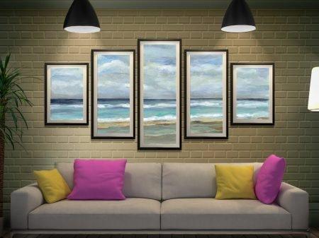 Seashore 5-Panel Silvia Vassileva Wall Art
