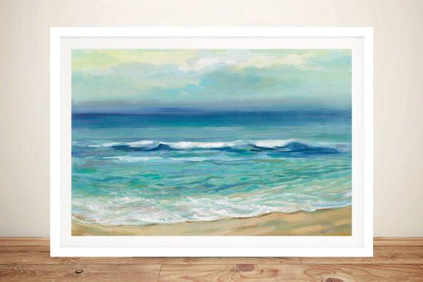 Seaside Sunrise Framed Print on Canvas