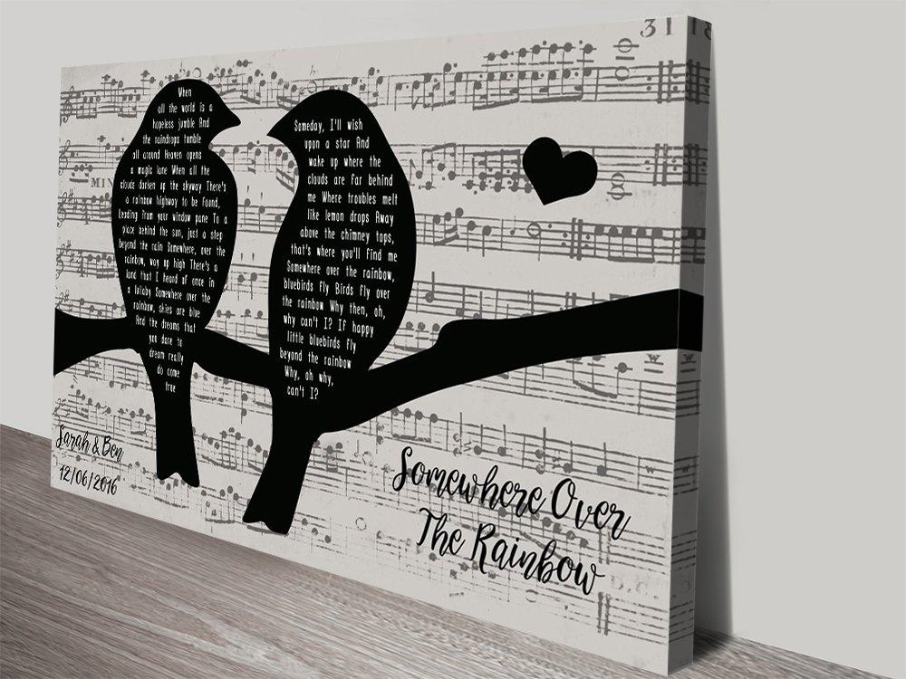 Songbirds Romantic Personalised Wall Art