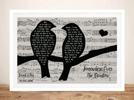 Bespoke Songbirds Black & White Artwork