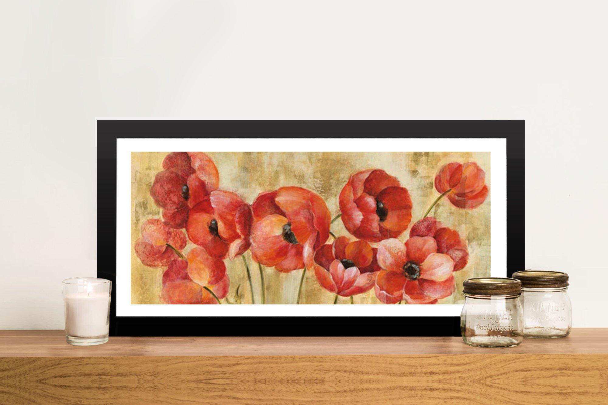 Summer Anemones Framed Floral Art Online