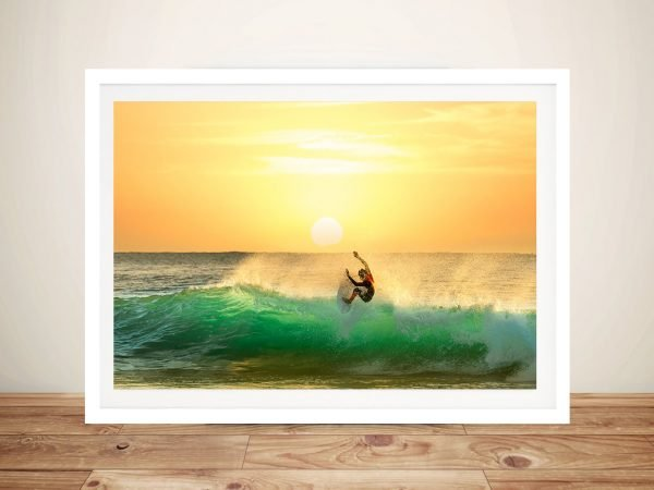 Sunset Slide Framed Seascape Art Print