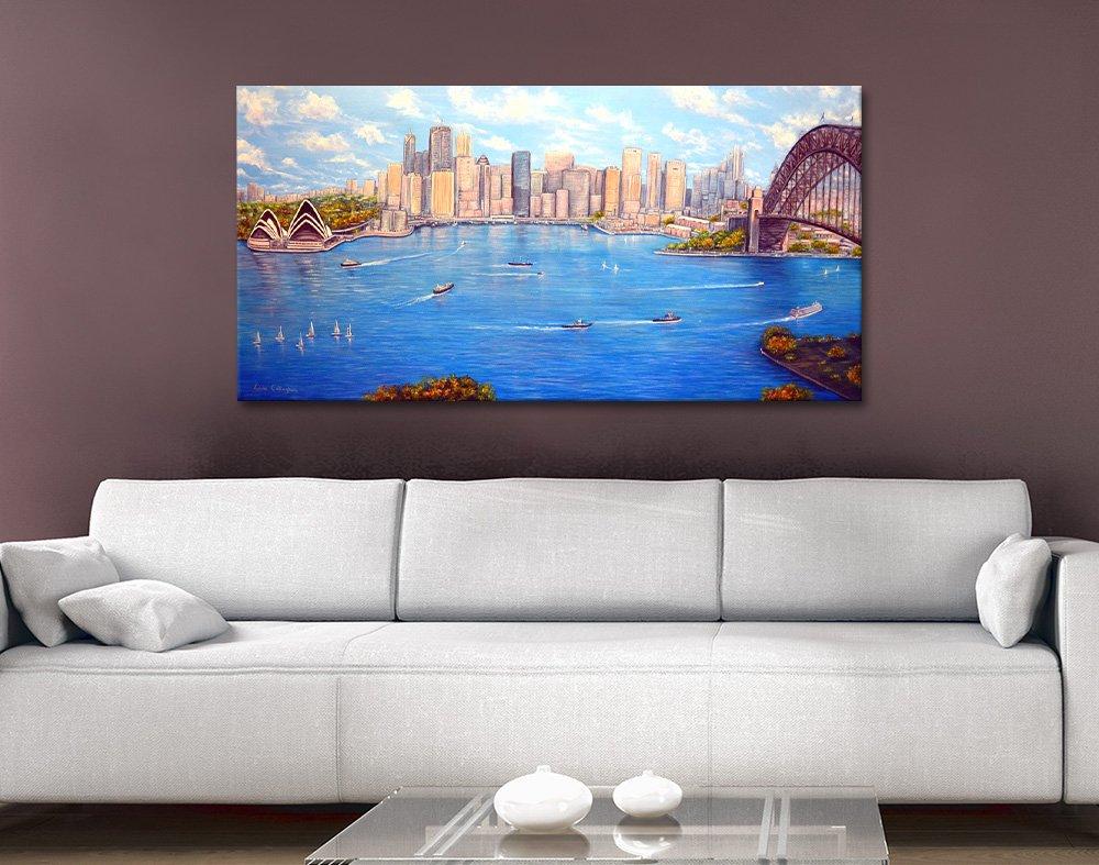 Sydney Harbour View Skyline Art Print