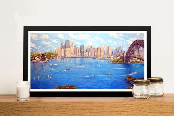 Linda Callaghan Sydney Harbour Art on Canvas