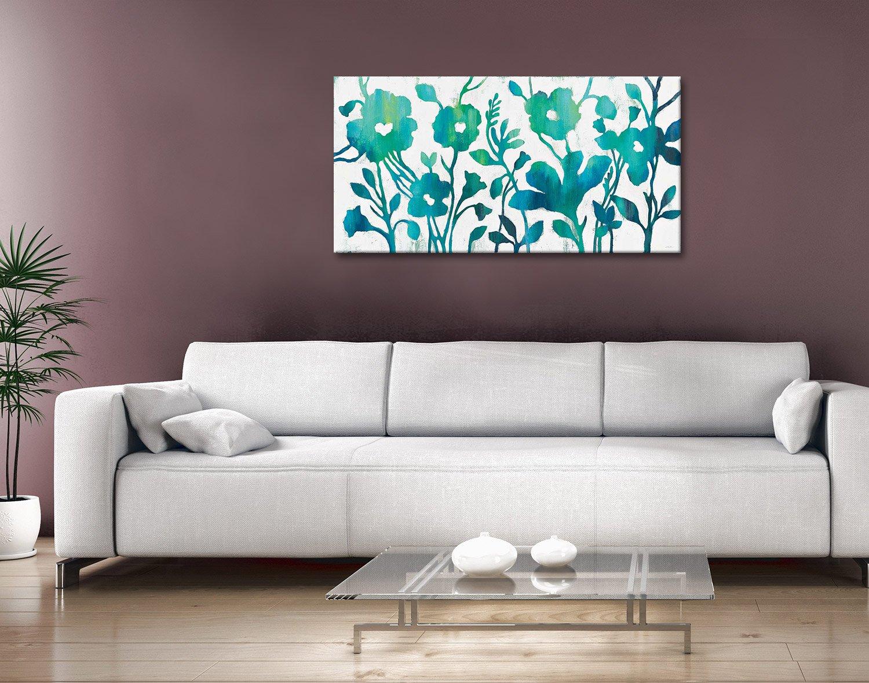 Teal Trio Silvia Vassileva Floral Art Print AU