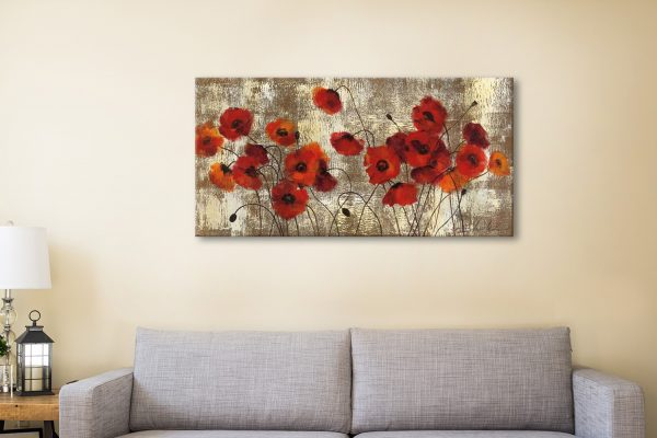 Tender Poppies Ready to Hang Floral Panoramic